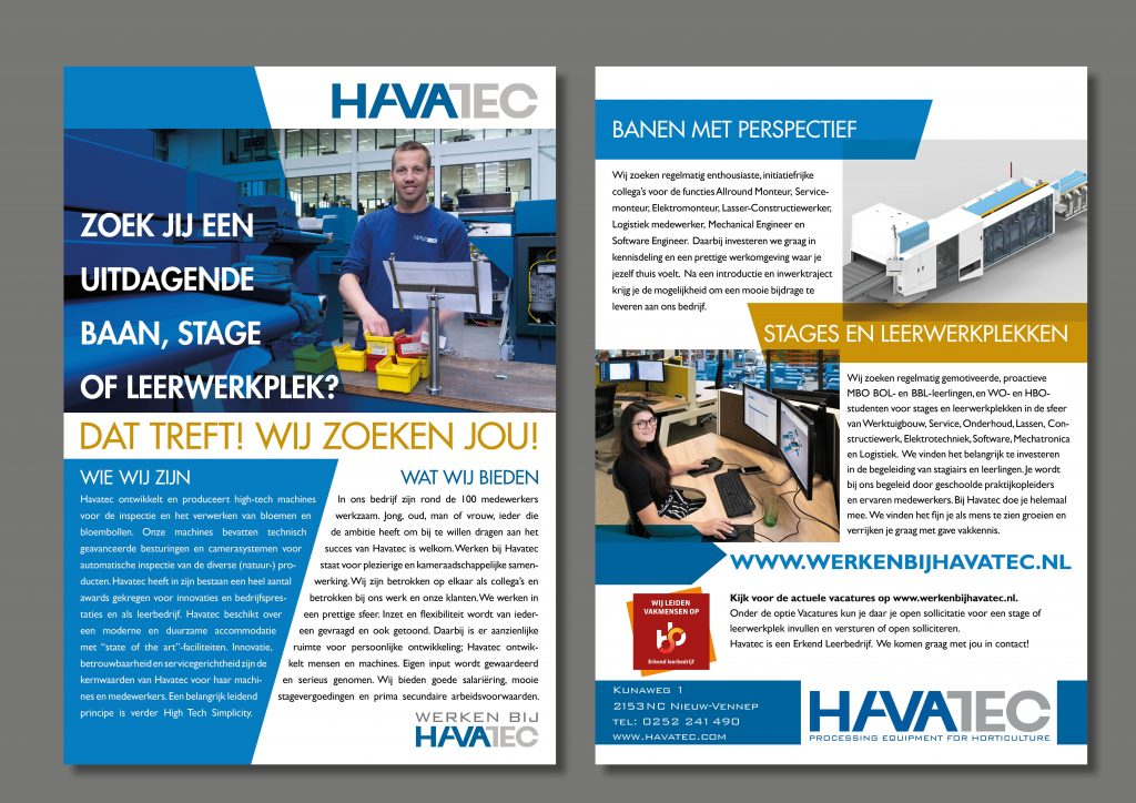 Flyer wervingscampagne